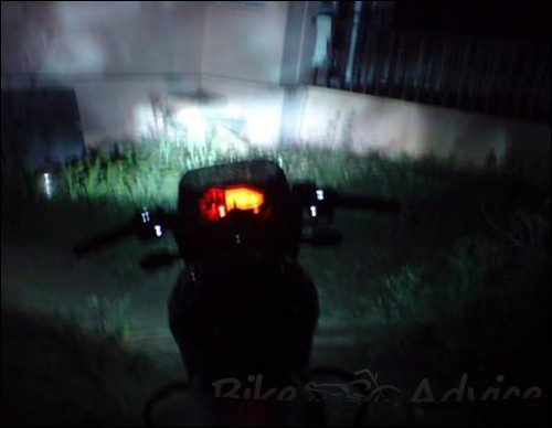 pulsar 200 with Philips HID conversion kit