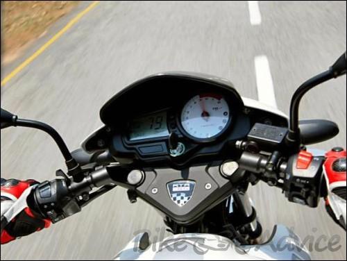 TVS Apache RTR White Speedometer