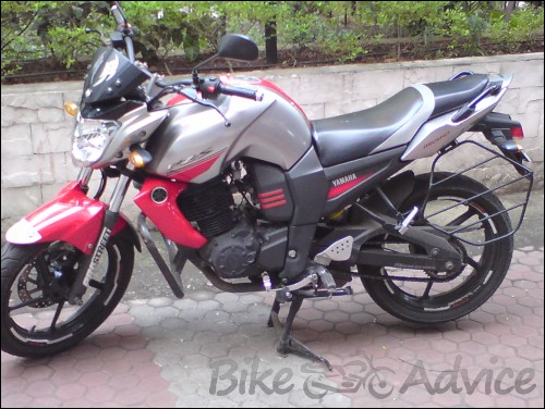Yamaha Red Silver FZ-S India
