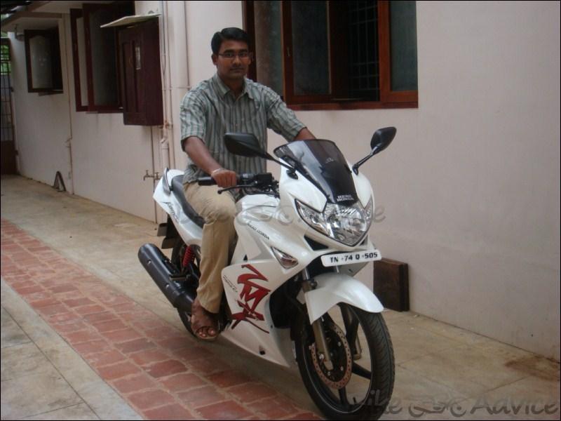 Hero Honda Karizma ZMR White Photos by Rahul | BikeAdvice.in