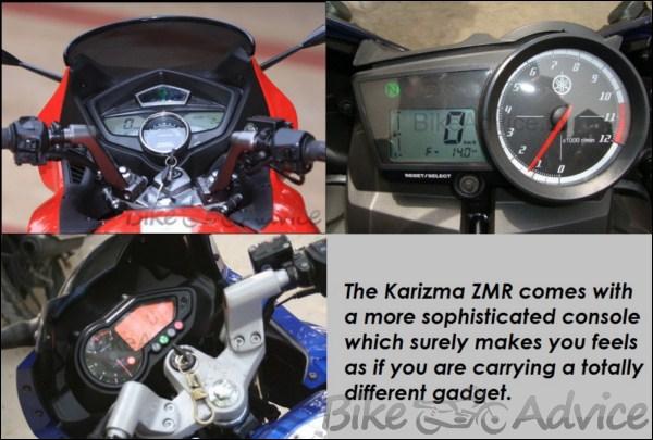 Hero Honda Karizma ZMR Vs. Bajaj Pulsar 220cc Vs. Yamaha ...