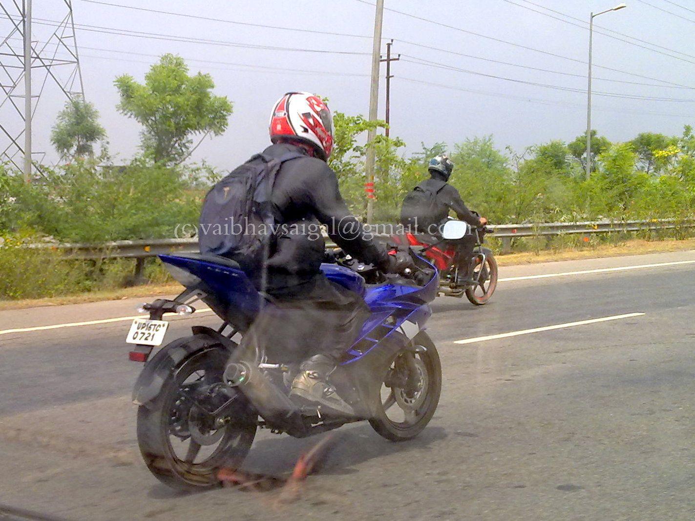 2012 Yamaha R15 Spotted Again | BikeAdvice.in