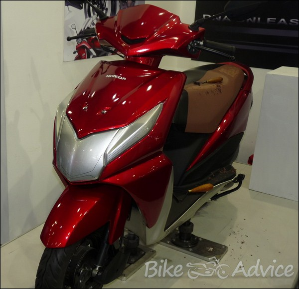New 1 1 Honda Dio Clay Model On Display At The Auto Expo