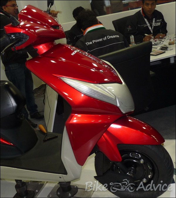 New 1:1 Honda Dio Clay Model on Display at the Auto Expo ...