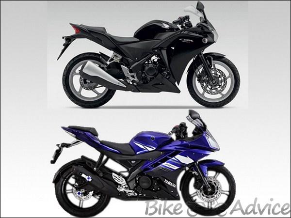 Honda cbr250r vs yamaha r15 v 2 0 bike comparison for Yamaha 221 vs 222