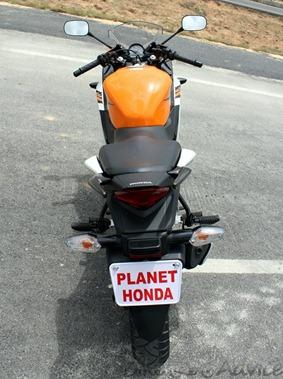 Honda CBR150R top view