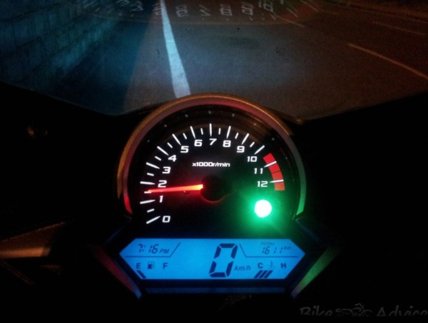 Honda CBR250R meter display