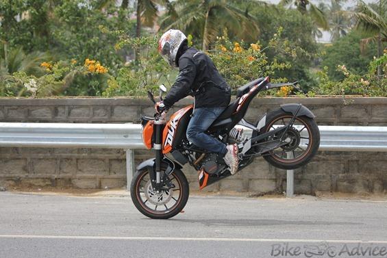 KTM Duke Braking