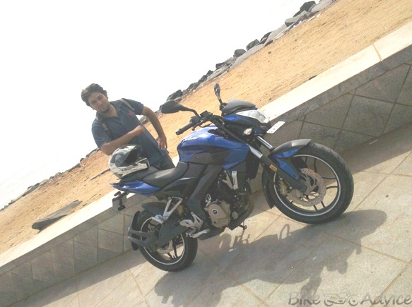 P200NS riding experience by Akshay