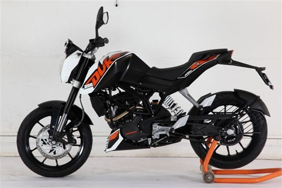 White Color KTM Duke