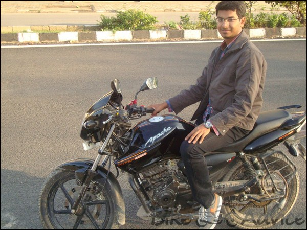 TVS Apache RTR160 Hyperedge Ownership Review by Vaibhav Chauhan bikeadvice in (1)