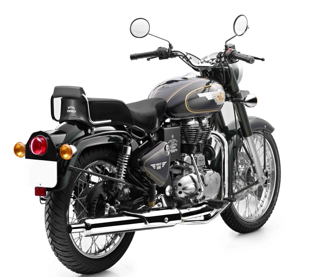 royal enfield bullet 500 in forest green colour back. Black Bedroom Furniture Sets. Home Design Ideas