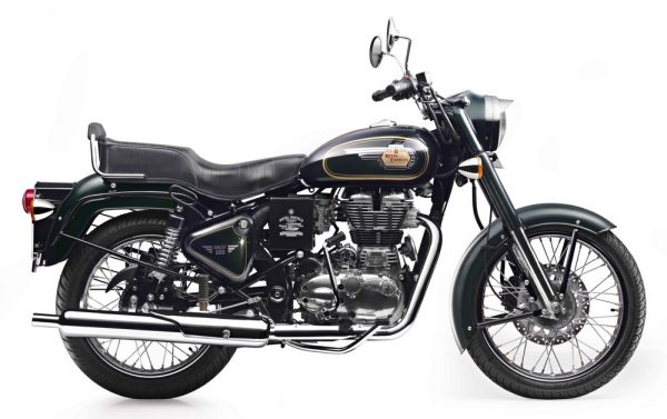 Royal Enfield Bullet 500 in Forest Green colour-Side