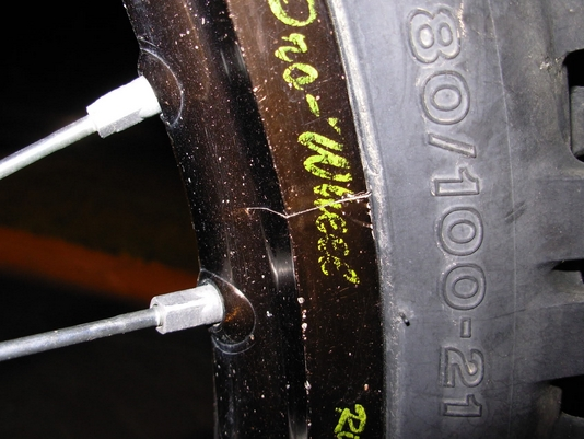 Cracked Rim Bikeadvice.in