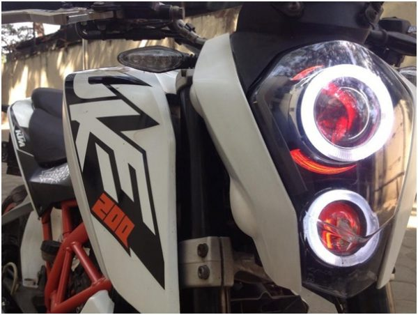 Angel eye and HID kit for the Duke 200