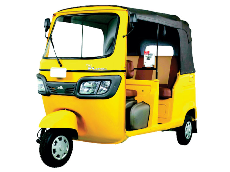 Tvs King Ds Auto Rickshaw To Be Powered By G435 Greaves