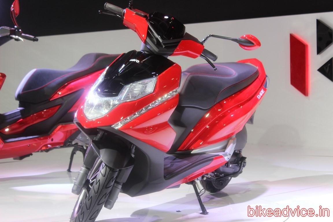 Hero Unveils 125cc Dare Scooter Pics Specs Amp All Details