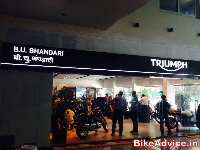 Triumph Launches Pune Dealership B U Bhandari Their 4th