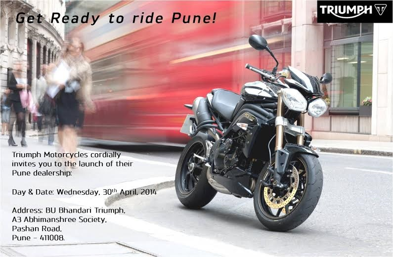 new car launches in puneTriumph to Launch New Dealership in Pune Tomorrow