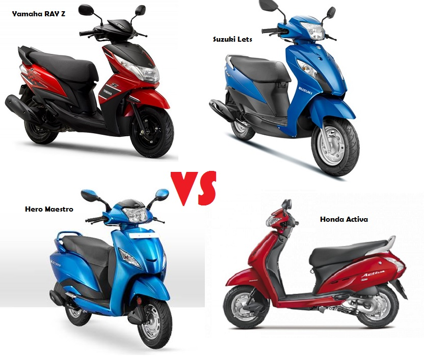 Lets Vs Activa Vs Ray 110cc Scooter Price Amp Spec Comparison