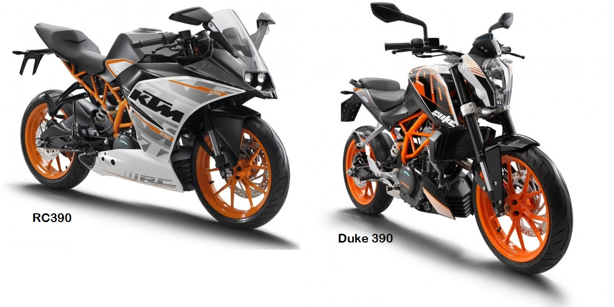 6 Spec Differences Between Duke 390 Rc390