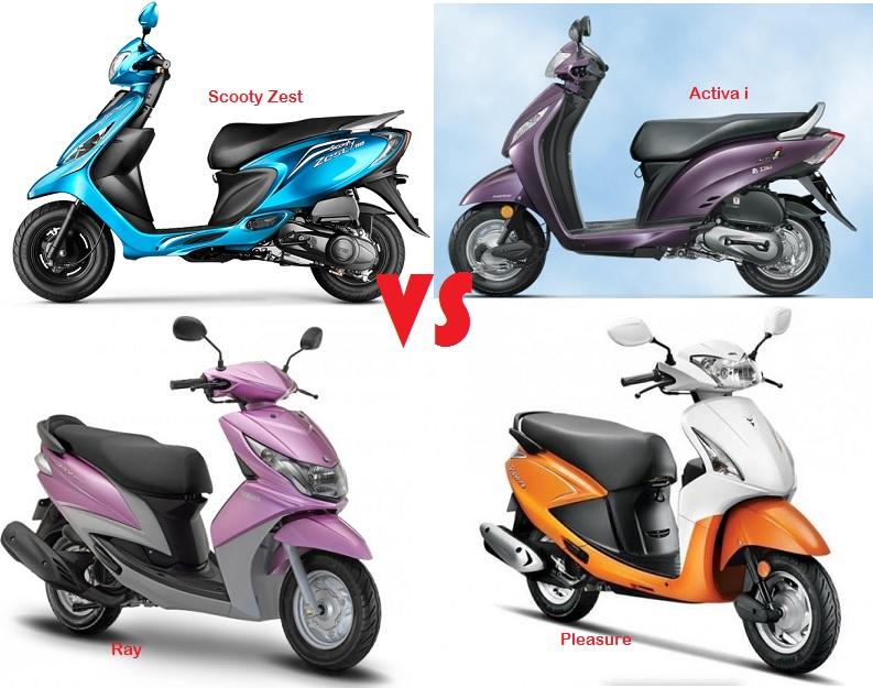 Entry Level 100cc Scooters: Scooty Zest vs Activa-i vs Ray vs