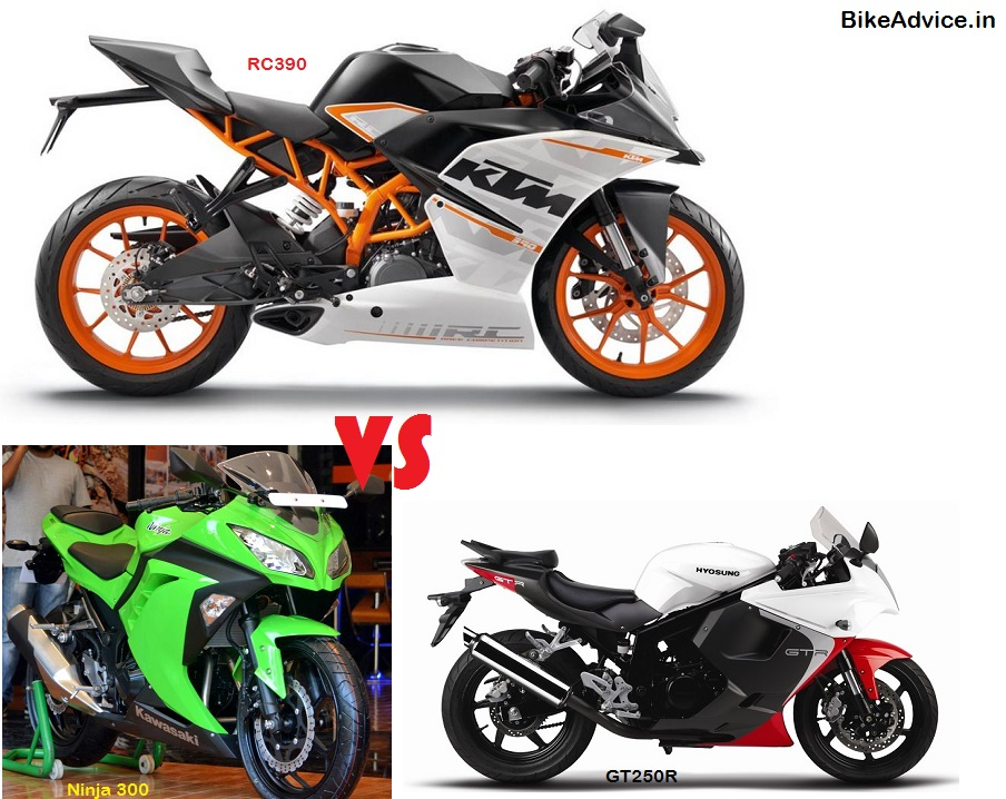 Rc390 Vs Ninja 300r Vs Gt250r Price Amp Spec Comparo
