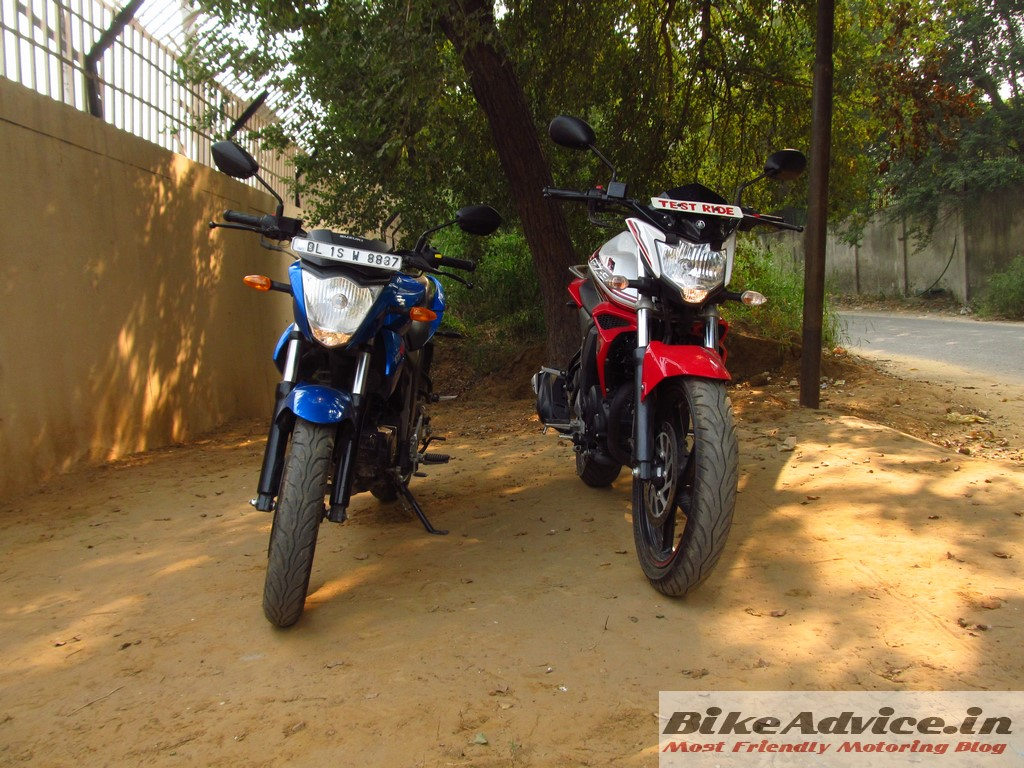 Gixxer and FZ-S front