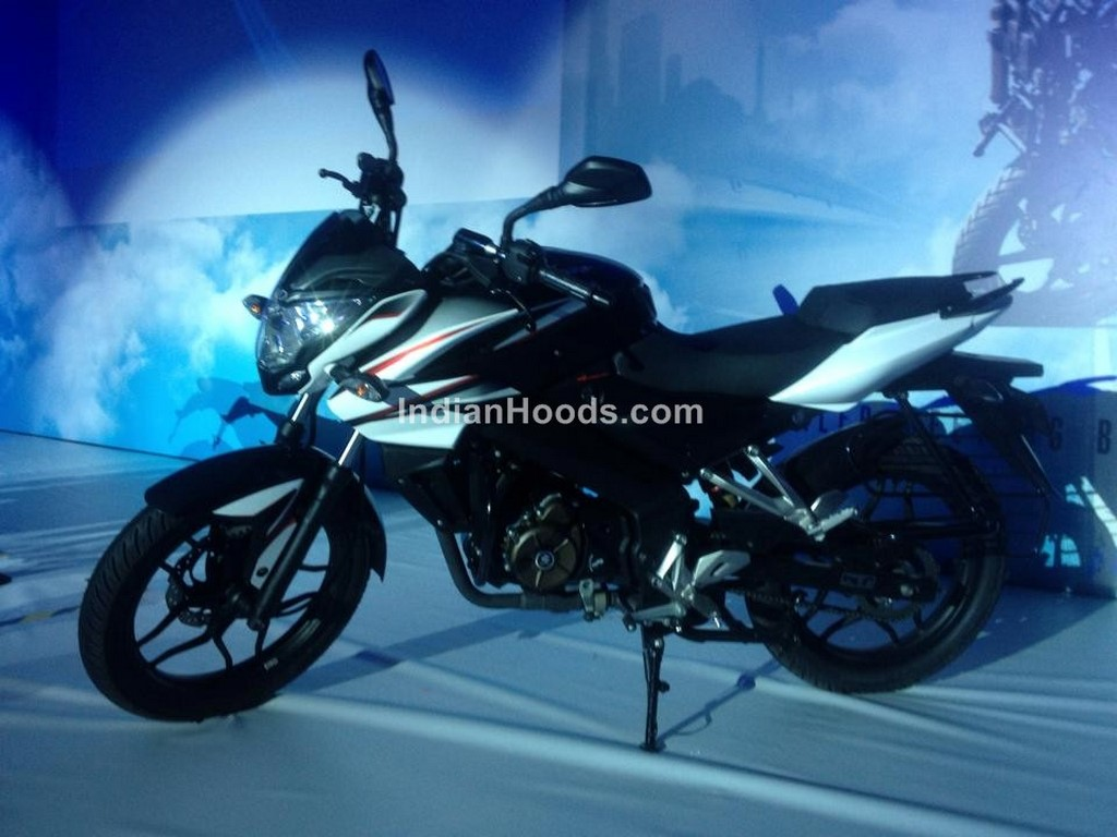bajaj pulsar Smallest pulsar ever to get 13hp, 4-valve motor and cbs.