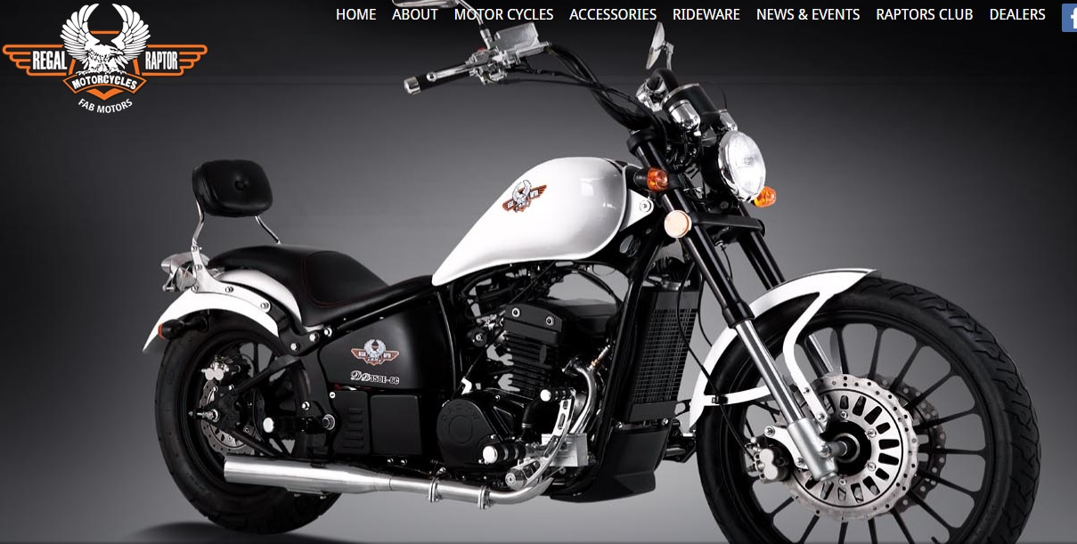 New Regal Raptor To Sell 320cc Cruisers Amp Choppers In