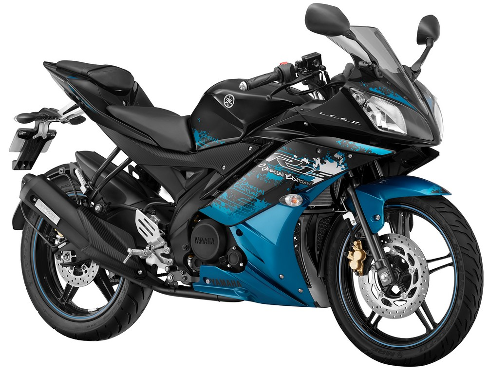 Yamaha R15 V2 Launched In New Colors Streaking Cyan Amp Gp Blue