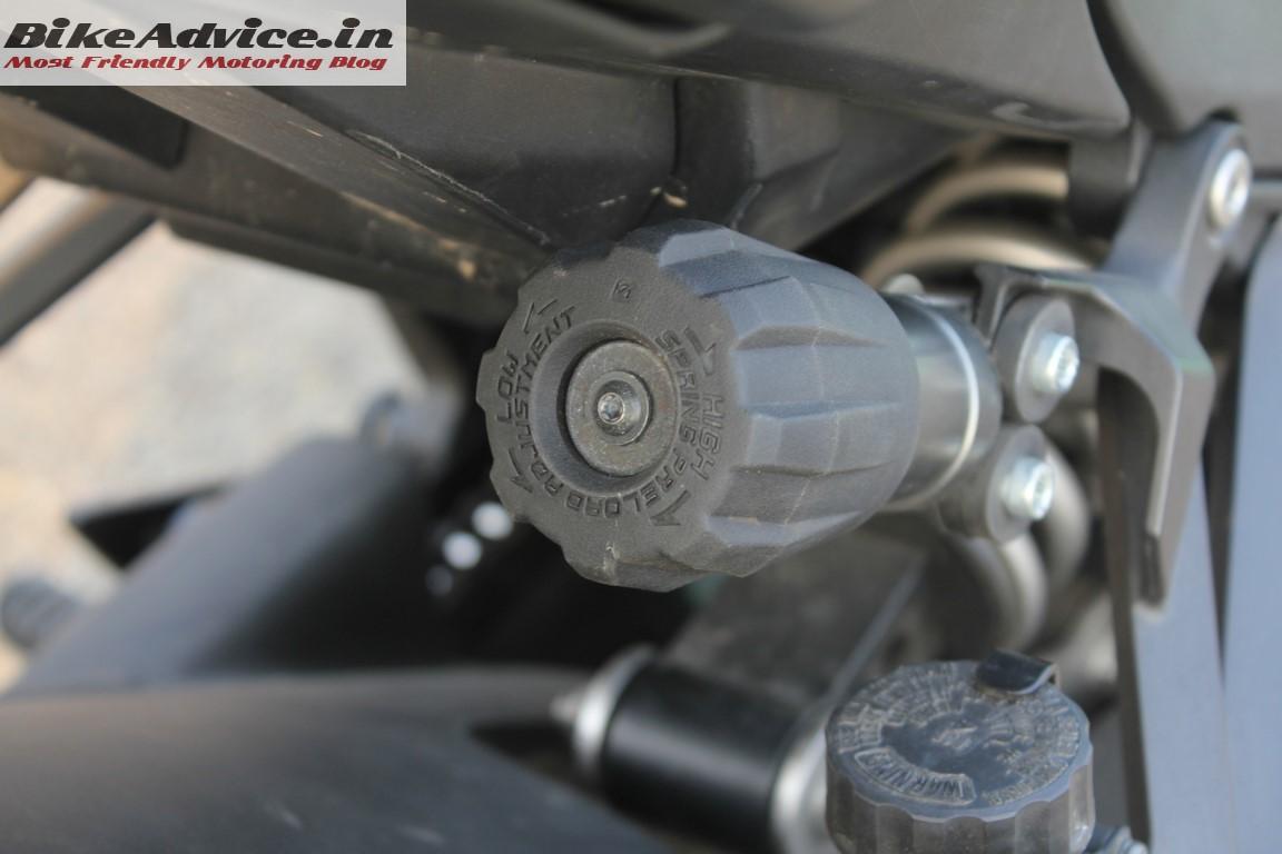 Ninja 1000 rear suspension preload adjuster