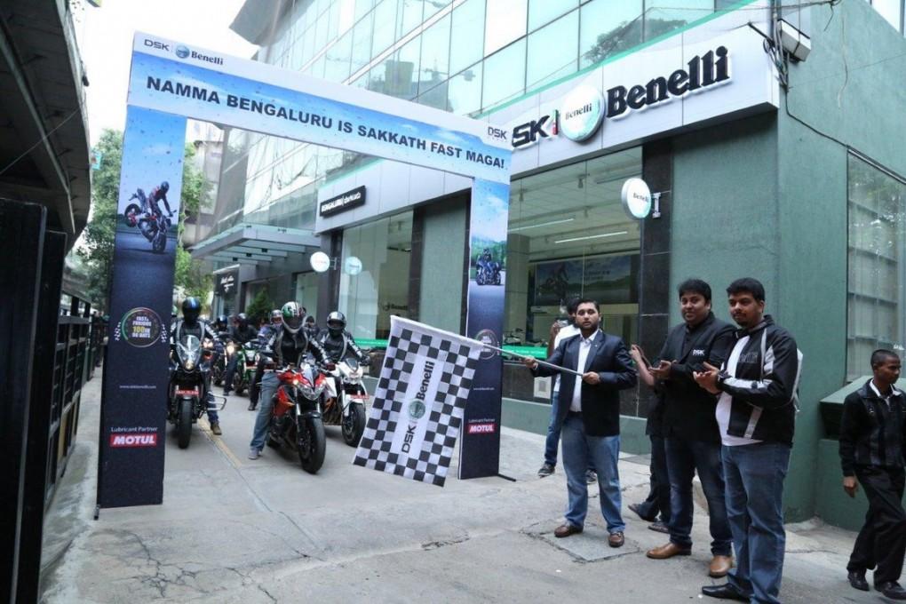 Ride Flag Off by Mr. Shirish Kulkarni, Chairman, DSK Motowheels