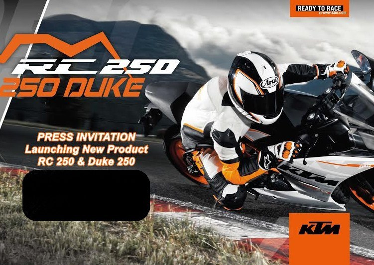Duke 250 Rc250 Launch Very Soon Ktm Sends Invitations