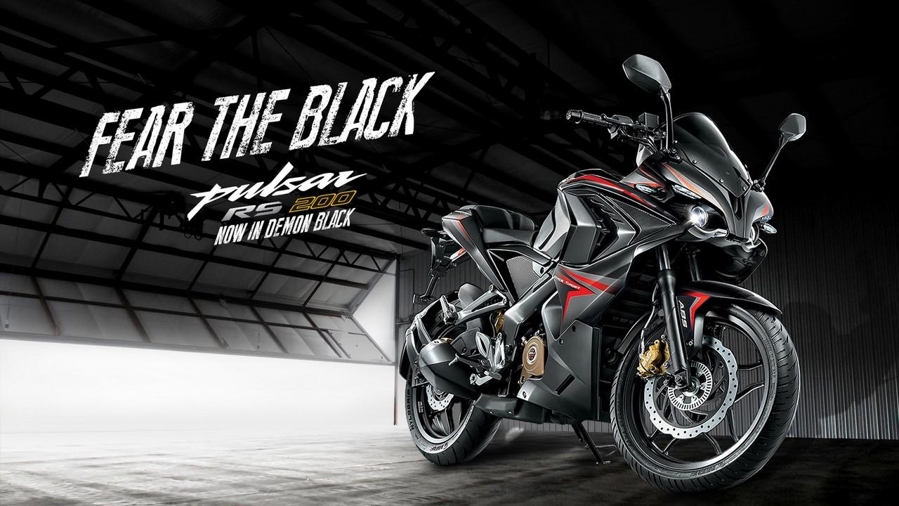 Bajaj Pulsar RS 200 Demon Black 3