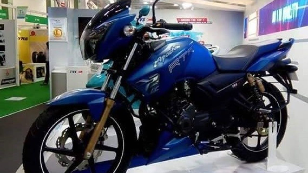New Matte Blue Coloured Apache 160 Spotted At A Dealership