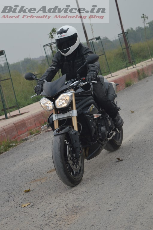 Triumph Speed Triple in motion