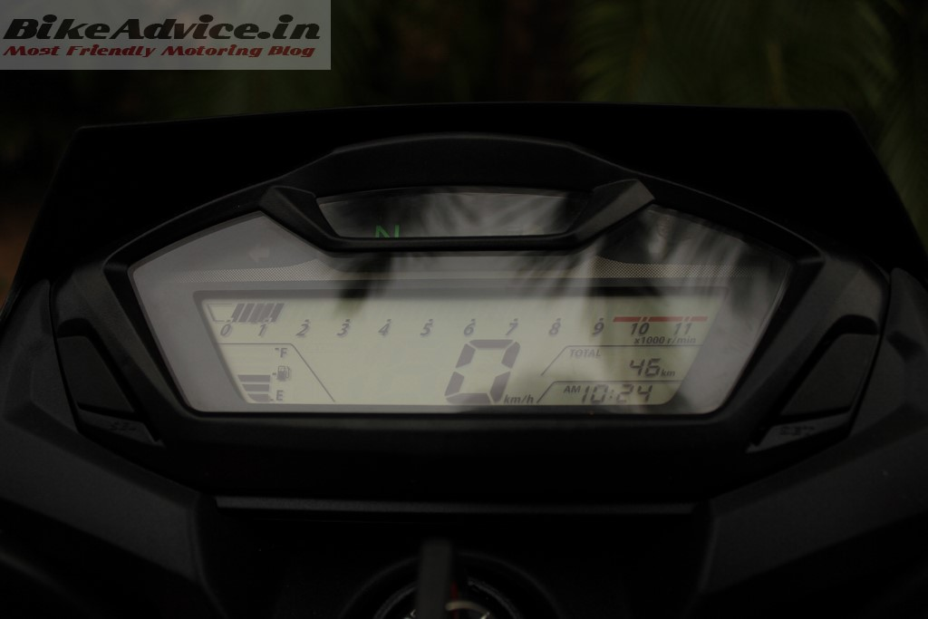 Honda Hornet instrument console