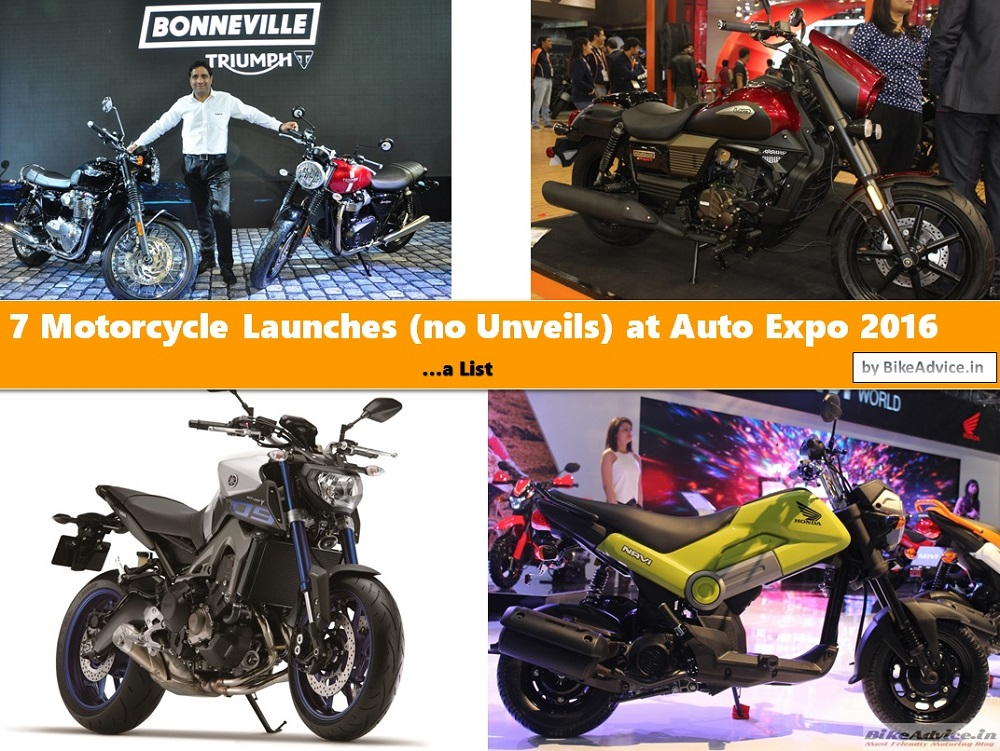 Auto Expo Motorcycle Launches