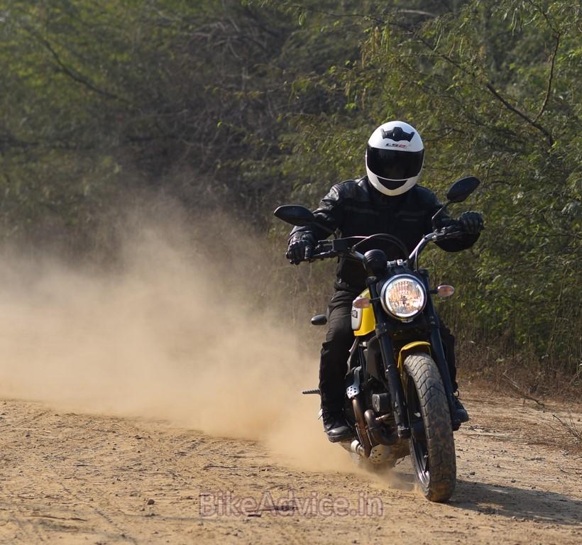 Ducati Scrambler drift