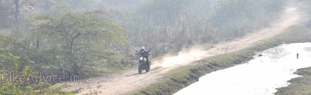 Ducati Scrambler on dirt track