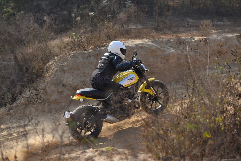 Ducati Scrambler traction