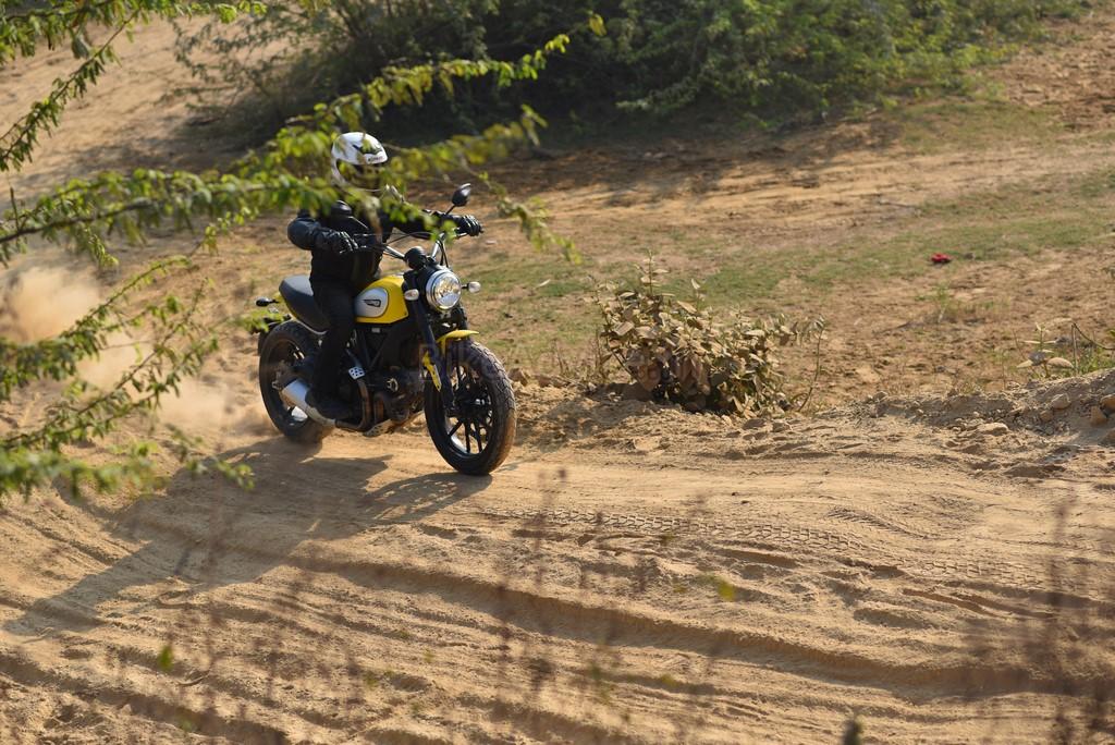 Ducati Scrambler tyre grip