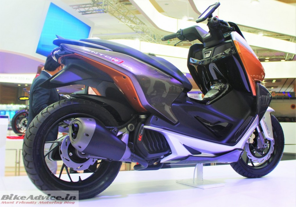 TVS Entorq 210 Scooter- 200cc Scooter Pic Side