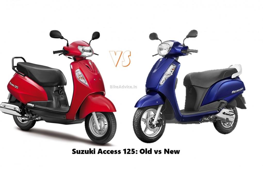 Suzuki Access Scooter Old vs New Pic