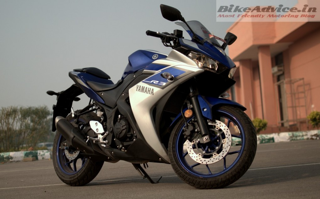 Yamaha R3 front three quarter 2