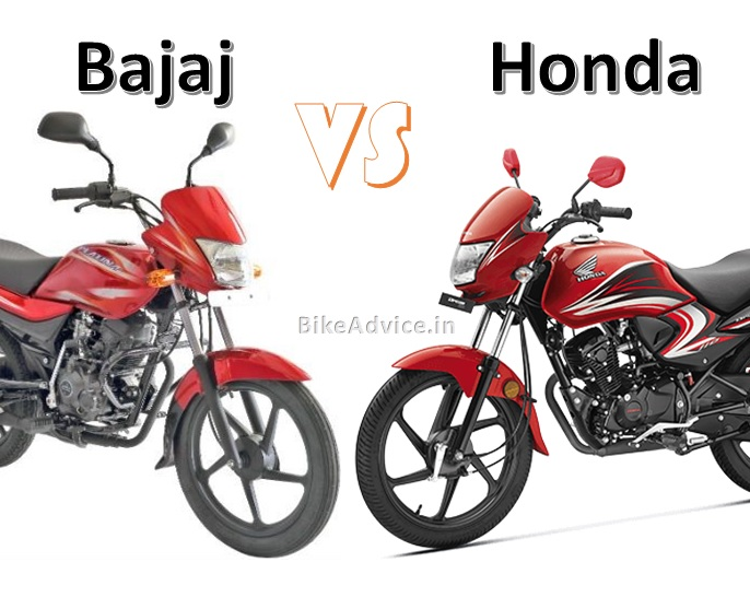 Bajaj vs Honda 100 cc Sales