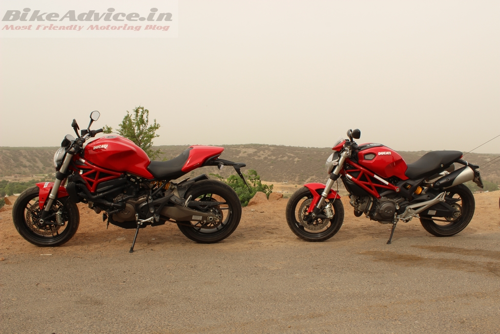 Ducati Monster 821 and 795