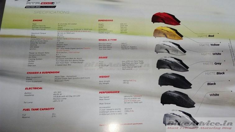TVS Apache 200 brochure 4