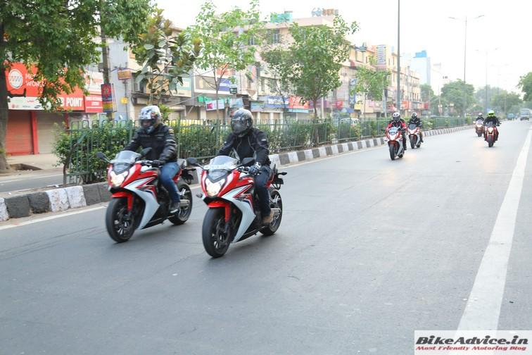 Honda CBR 650F motion 2